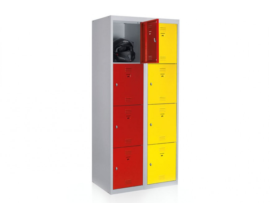Vestiaires démontables 2 x 4 cases, L800xP500xH1800