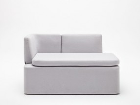 Banquette KAIVA 2 places assise tissu MEDLEY. L1240xp620xH760