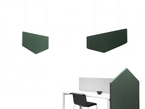 Element acoustique SIGNS DESK UP pour bureau. L1600xH1200